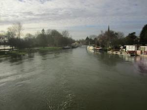 A very full River Thames at Abingdon.
