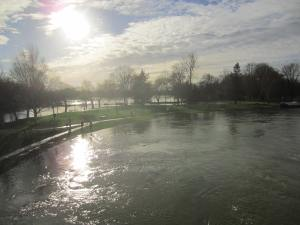 The River Thames in flood at Abingdon, Oxfordshire.