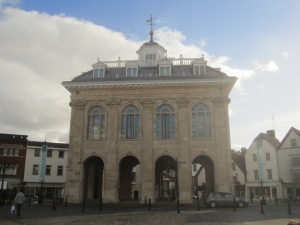 County Hall, Abingdon. c.1677 and built by Christopher Kempster, stone mason to Sir Christopher Wren.