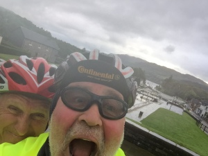Fort Augustus - no rain is going to dampen our spirit!